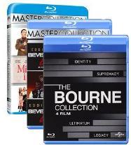 3 coffrets pour le prix de 2 - Ex: Coffret Blu-Ray Jason Bourne + Coffret Le Flic de Beverly Hills + Trilogie Mon Beau-Père et moi soit 10 films