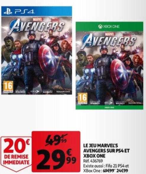 Jeu Marvel's Avengers sur PS4 / Xbox One