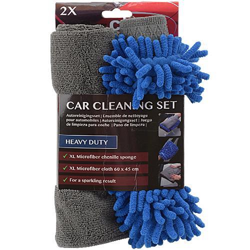 Kit de nettoyage pour voiture (éponge + chiffon)