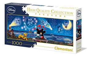 Puzzle Clementoni Disney Panorama Collection Mickey et Minnie - 1000 Pièces (39449)