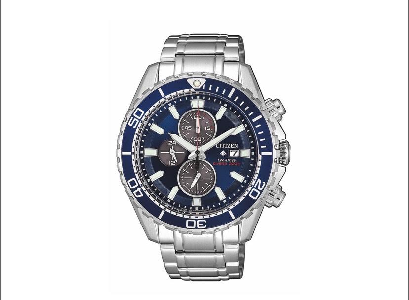 Montre solaire chronographe Citizen CA0710-82L - Boîtier acier, 44.5 mm, Bracelet acier, étanchéité 20 ATM