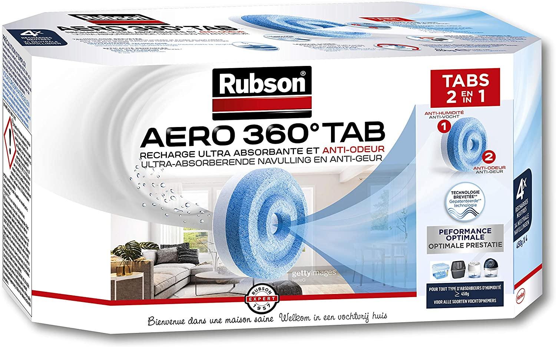 Lot de 4 recharges Rubson Aero 360