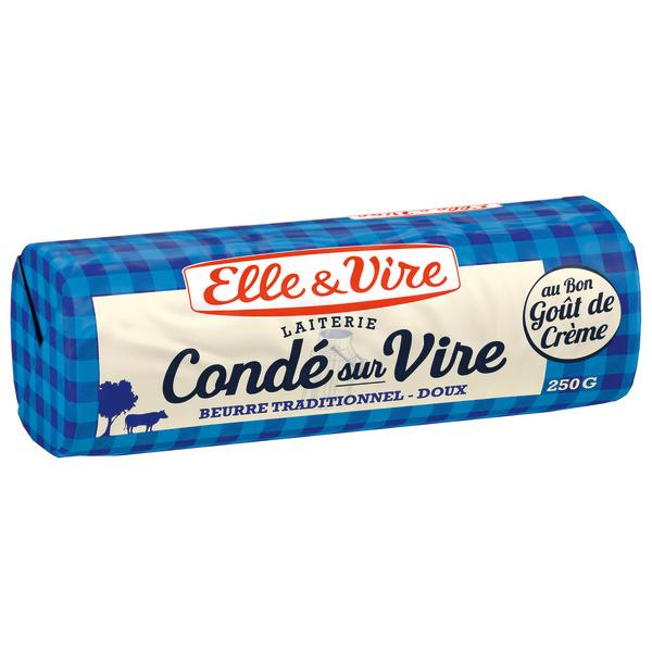 Lot de 3 beurres de Condé-sur-Vire Elle & Vire - 3 x 250 g