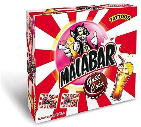 Chewing-gums Malabar Bonbons Cola - 200 Pièces