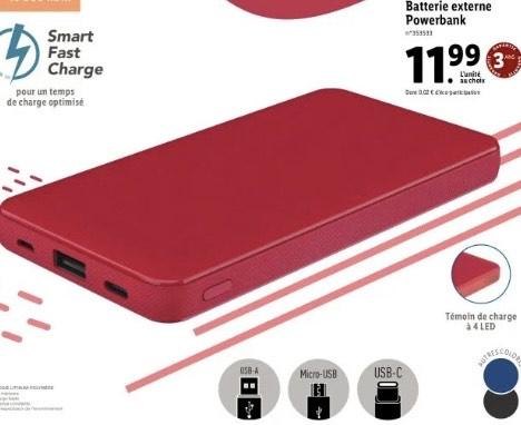 Batterie externe Powerbank Silvercrest - 10000mAh