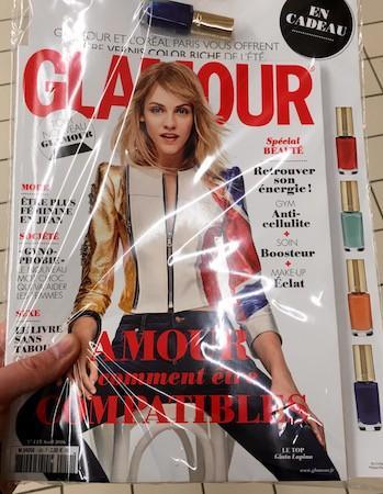 Magazine Glamour + Vernis à ongles Color Riche de L'Oréal