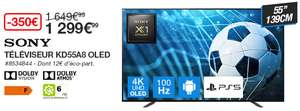 """[Carte Costco] TV OLED 55"""" Sony KD55A8 (4K UHD, 100 Hz, HDR10, Dolby Vision & Atmos, Android TV) - Villebon sur Yvette (91)"""