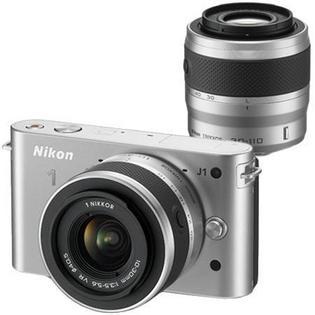 Appareil photo Nikon 1 J1 Kit 2 objectifs 10-30 + 30-110mm argent