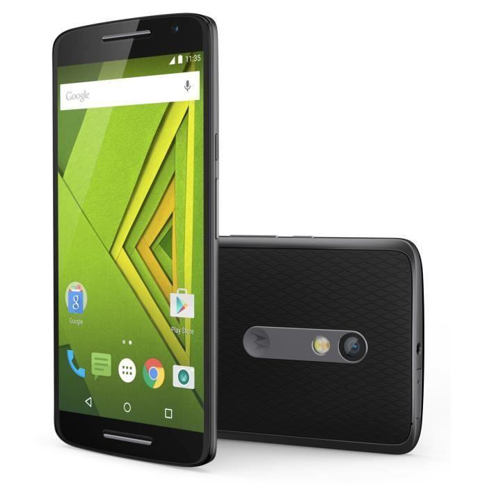 "Smartphone 5.5"" Motorola Moto X Play Noir - 1920x1080, Snapdragon 615 1.7Ghz, RAM 2Go, 16 Go, Android 5.1.1 (via ODR 50€)"