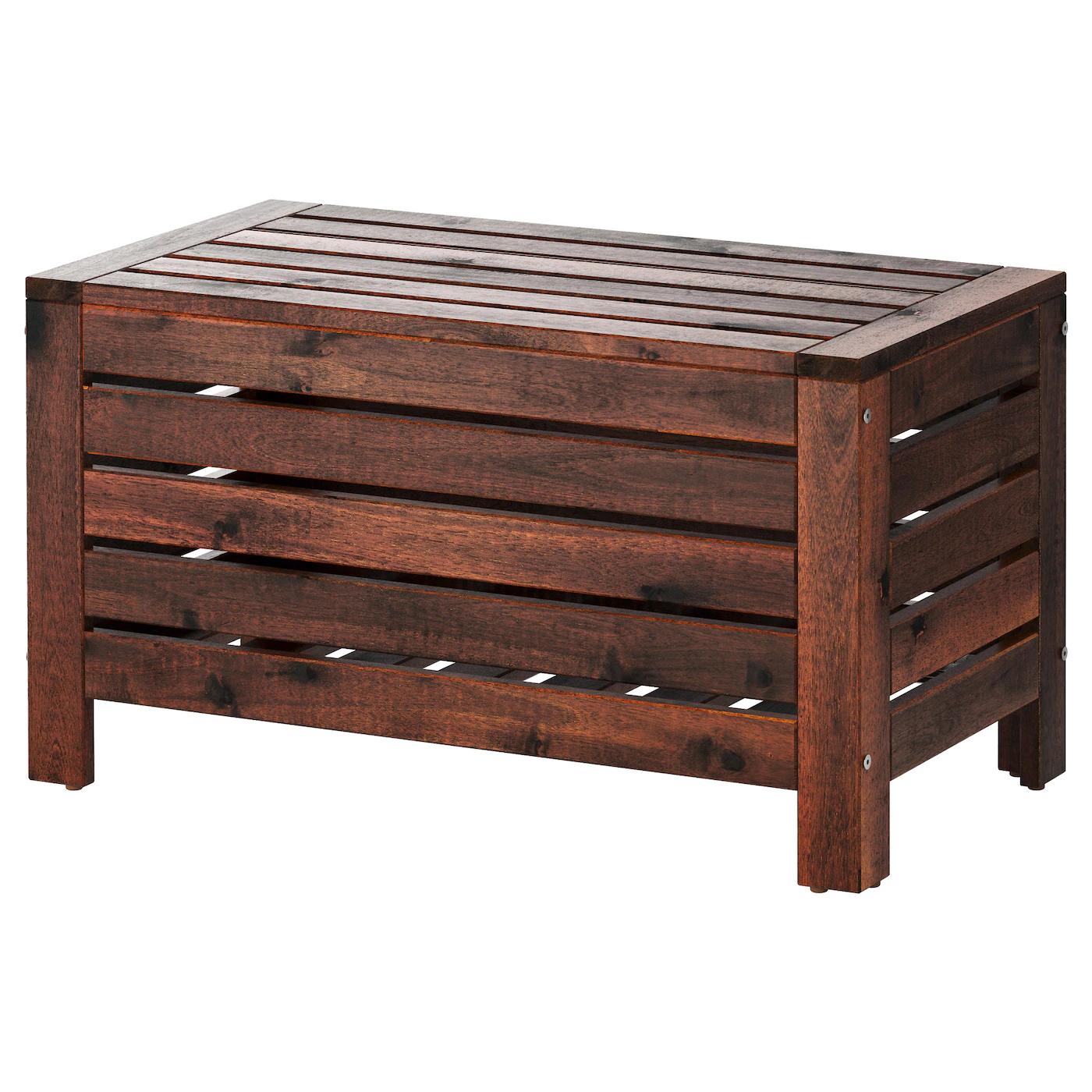 [Ikea Family] Banc de rangement Äpplarö - Teinté brun, 80x41cm