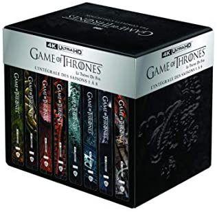Coffret Blu-ray 4K Game of Thrones (Le Trône de Fer) - L'intégrale des Saisons 1 à 8 (Coffret métal + boîtiers Steelbook)