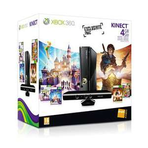 Console Xbox 360 4 Go + capteur Kinect + Kinect Sports + Disneyland Kinect + Fable 3 + Kinect Adventure + 3 mois Xbox Live Gold
