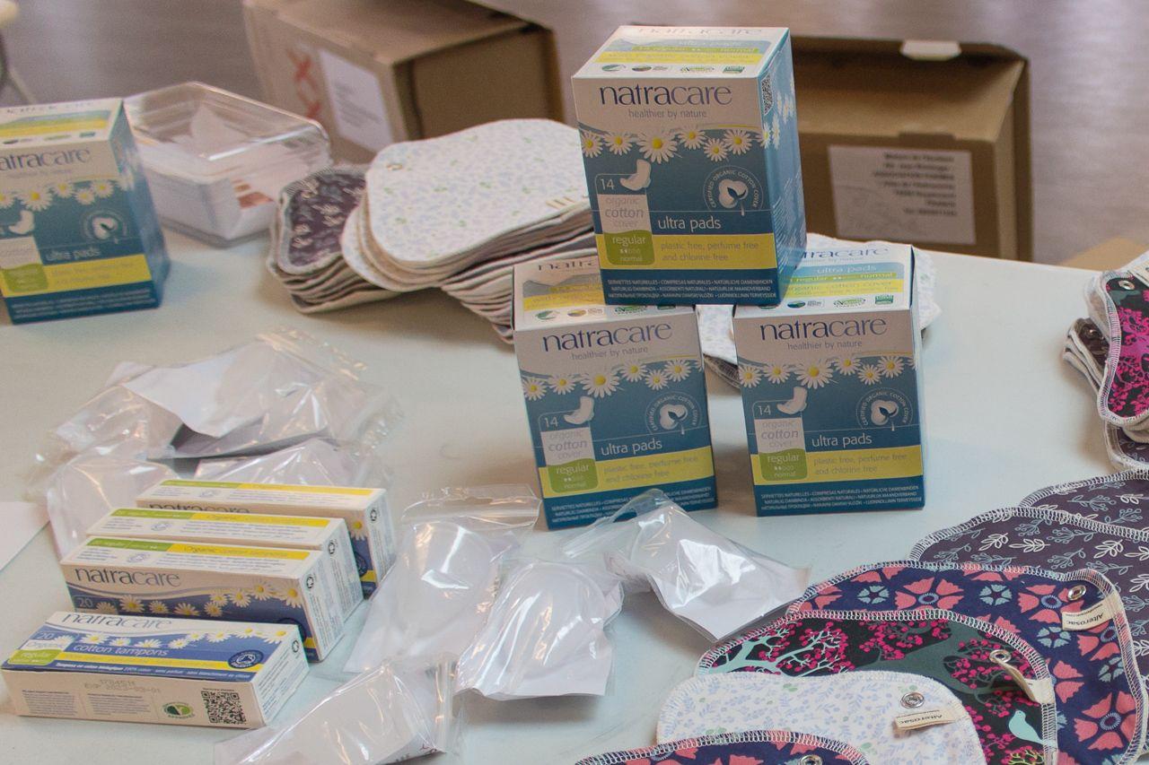 Distribution Gratuite de Kits de Protections Hygiéniques Durables (serviettes lavable, coupe menstruelle bio) - Eysines (33)