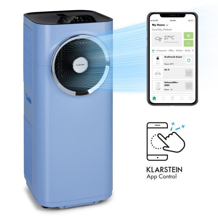 Climatiseur Klarstein Kraftwerk Smart - 12000 BTU, 3.5 kW, Bleu ou Rose
