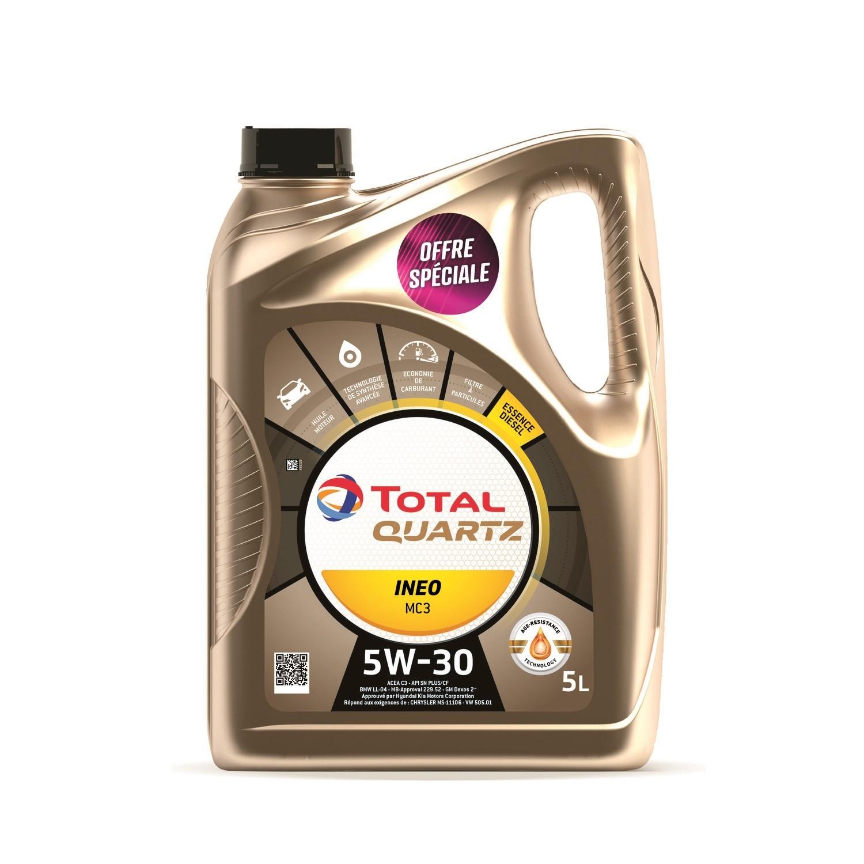 Bidon d'Huile moteur Total Quartz Ineo LL 5W30 (5L)
