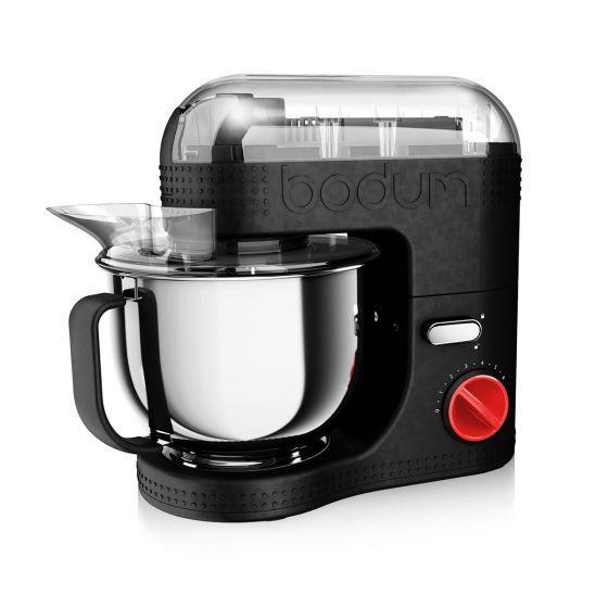 Robot de cuisine électrique Bodum Bistro - 700 W, bol inox 4.7L, Noir