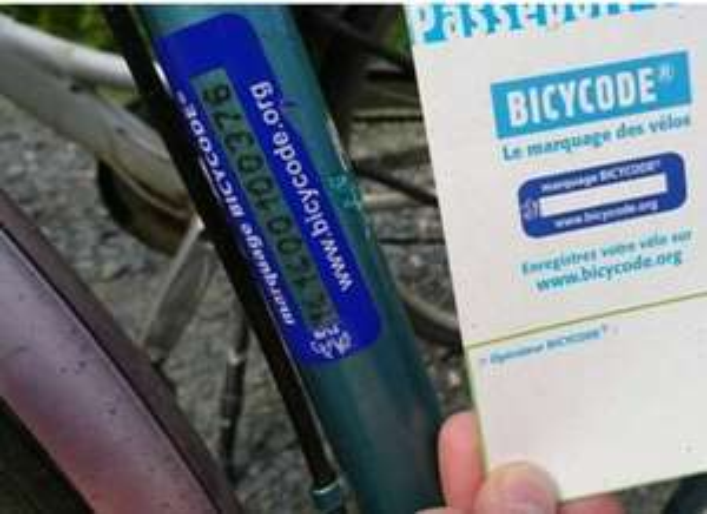 Marquage Bicycode Gratuit - Police Municipale Saint Germain en Laye (78)