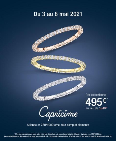 Alliance Mauboussin Capricime - Or blanc / Or rose / Or et diamants, Tailles au choix