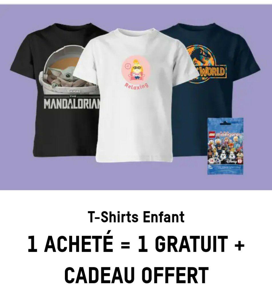 2 T-shirts à thème pour Enfant + Polybag Lego pour 14,99€