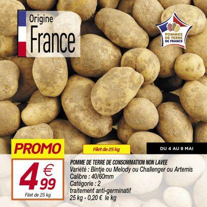 Filet de 25 kg de pommes de terre de consommation - Variétés au choix, Origine France (25kg)