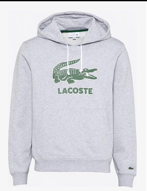 Sweat-shirt Lacoste - Gris/Vert, diverses tailles