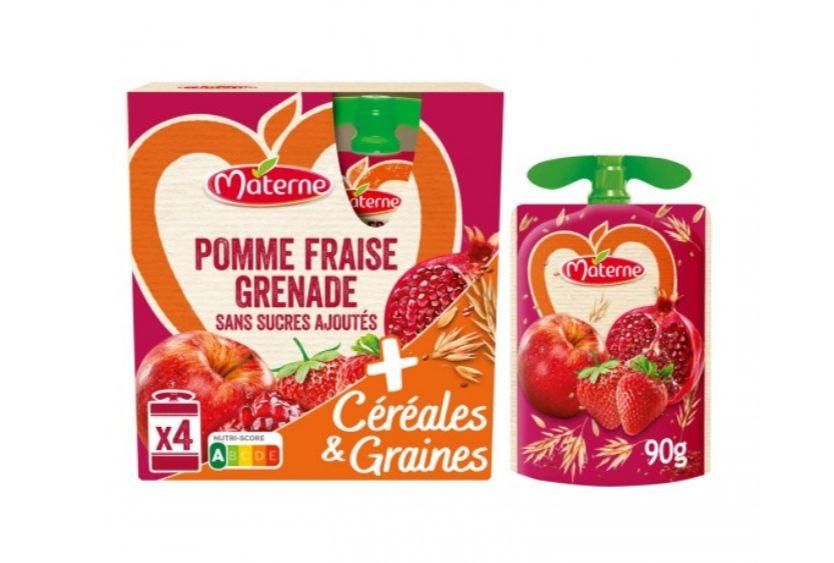 2 paquets de 4 Compotes en gourde Materne Céréales & Graines - Variétés au choix (Via Shopmium)