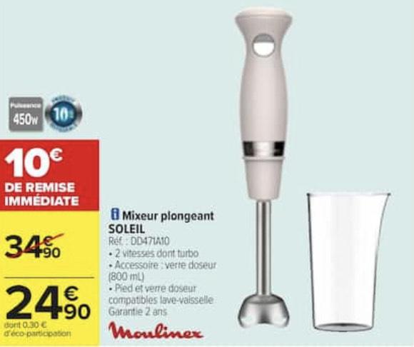 Mixeur plongeant Moulinex DD471A10 - 450W
