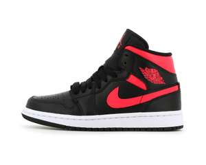 "Baskets Nike Air Jordan 1 Mid ""Black Siren Red"" WMNS (opiumparis.com)"