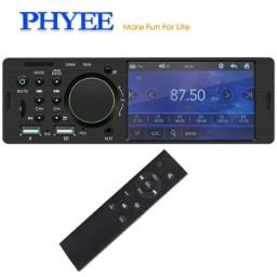 Autoradio Phyee 7805C avec Ecran tactile - 1 Din, Bluetooth 4.1, Télécommande