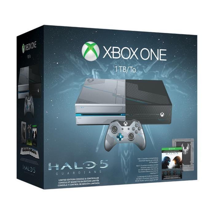 Pack Console Microsoft Xbox One 1 To Edition Collector + Halo 5 : Guardians (Dématérialisé)