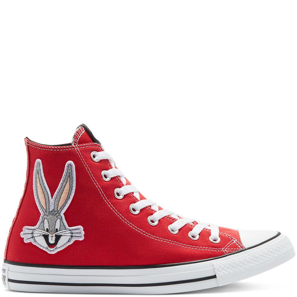 Paire de chaussures Chuck Taylor All Star Converse x Bugs Bunny montante - Rouge, toutes tailles
