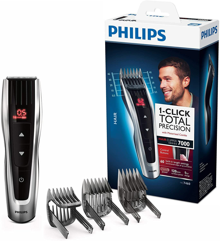 Tondeuse cheveux Philips S7000 HC7460/15 - 3 sabots motorisés 60 hauteurs