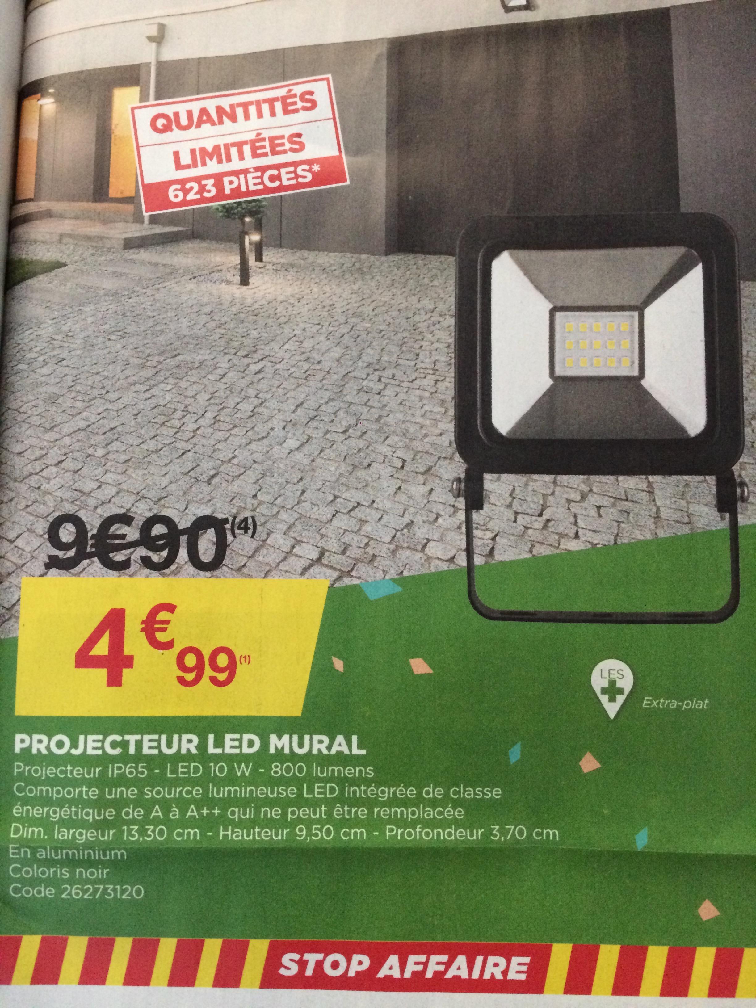 Projecteur led mural - 10W, 800 lumens