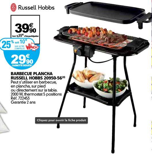 Barbecue planche 3 en 1 Classics 20950-56 (avec 10€ sur la carte)