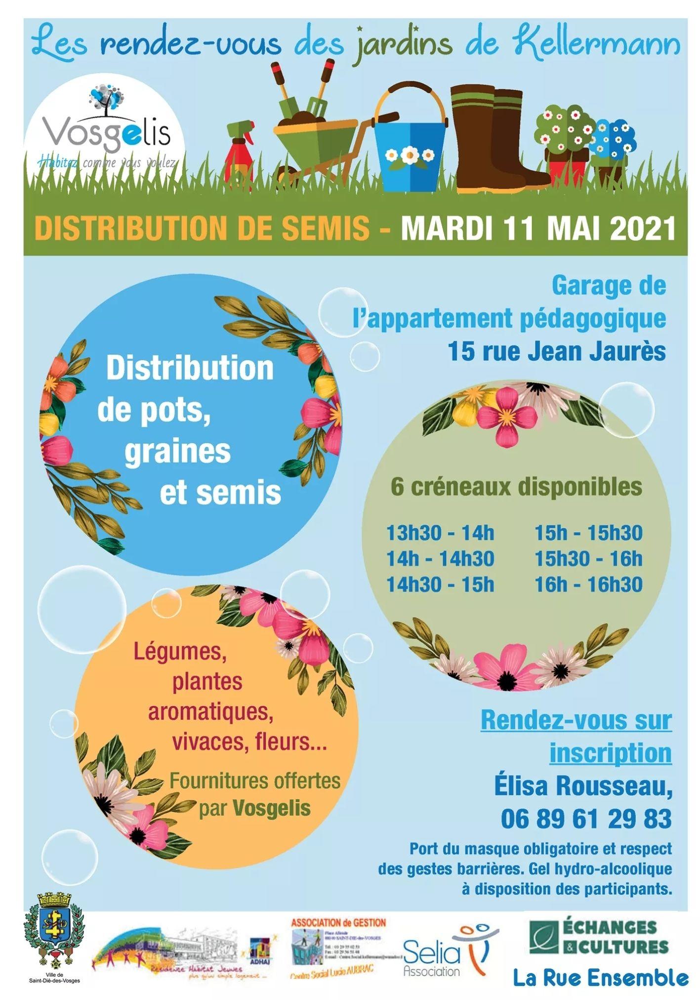 Distribution de pots, graines et semis - Saint-Dié-Des-Vosges (88)