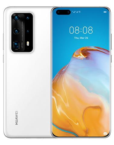 "Smartphone 6.58"" Huawei p40 pro+ 5G - 8 Go de Ram, 512 Go , Blanc céramique (Sans service Google)"