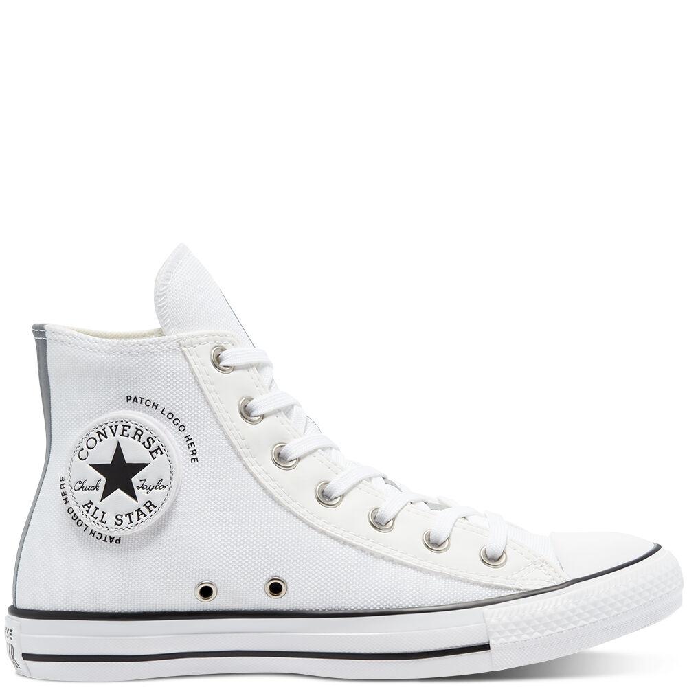 Chaussures montantes Converse CTAS HI - Blanc/Noir (Taille 44 et 45)