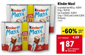 Sélection de chocolats Kinder en promotion - Ex : Kinder Maxi 2x462g