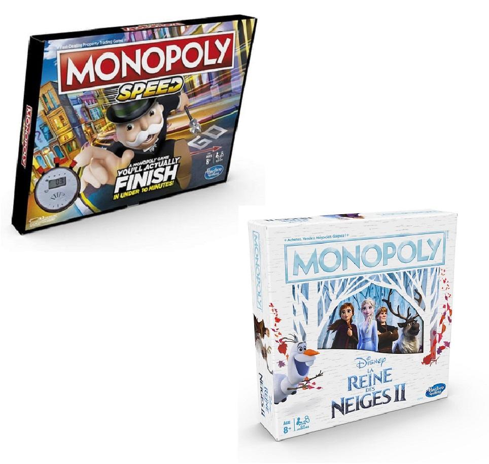 Sélection de jeux de société en promotion - Ex : Monopoly Speed ou Reine des Neiges 2 (via 13,79€ sur la carte)