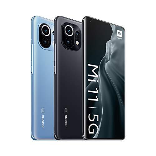 "Smartphone 6.81"" Xiaomi Mi 11 5G - WQHD+ AMOLED, SnapDragon 888, 8 Go de RAM, 128 Go (Bleu ou noir)"