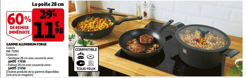 Sélection de matériaux de cuisson gamme aluminium forgé en promotion - Ex: Poêle 28 cm (tout feux dont induction) - Saint-Priest (69)