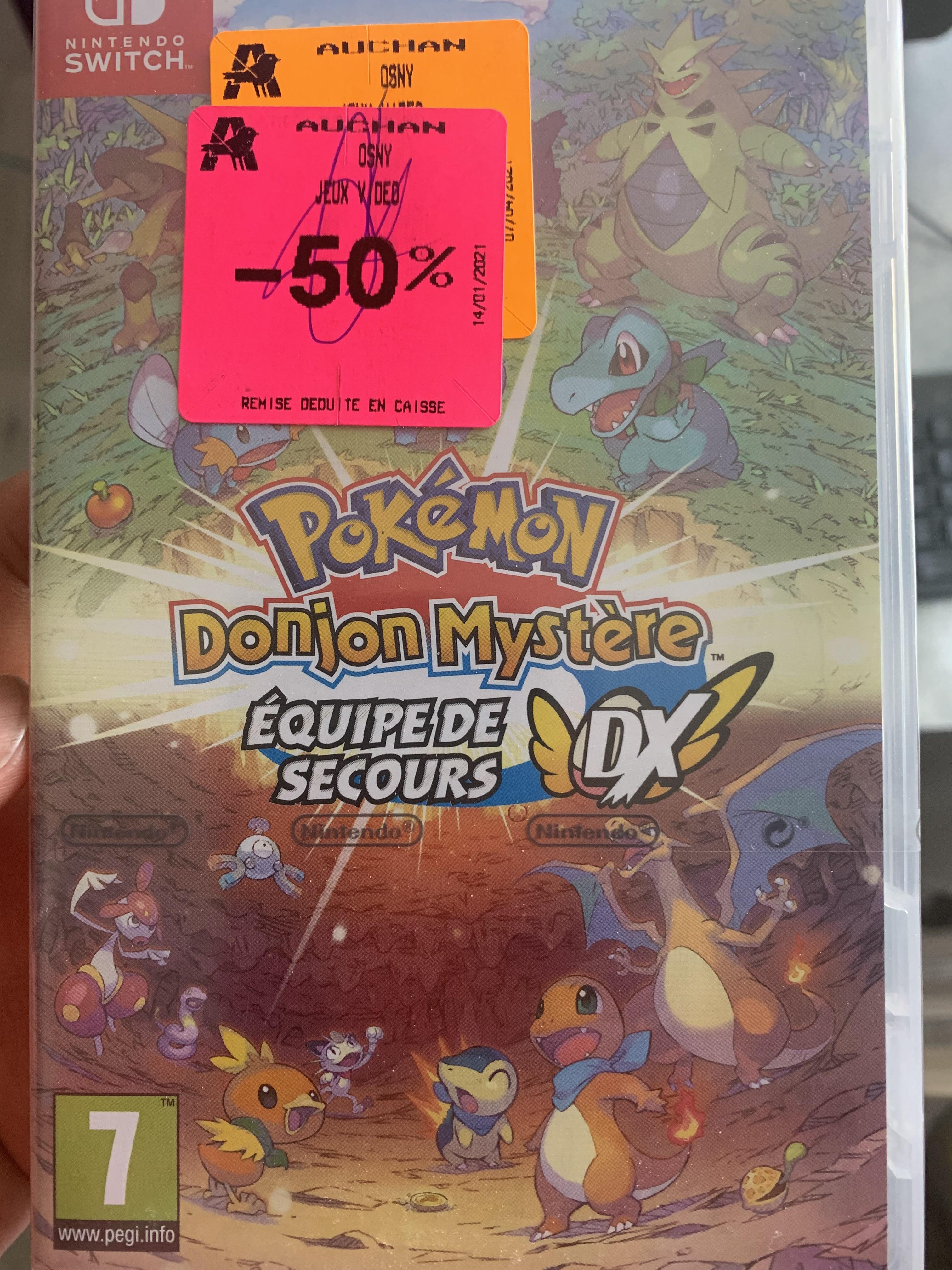 Pokémon Donjon Mystère : Équipe de secours DX sur Nintendo Switch (Osny 95)