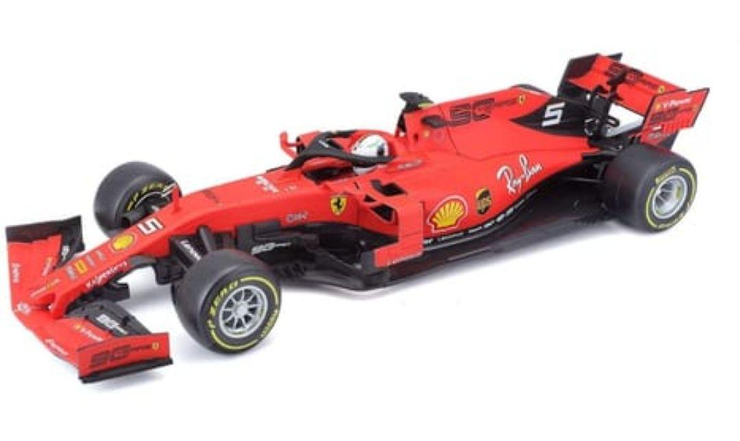 Miniature Burago F1 Ferrari 2019 Sebastian Vettel 1/18e (Via 38,99€ sur Carte Fidélité)