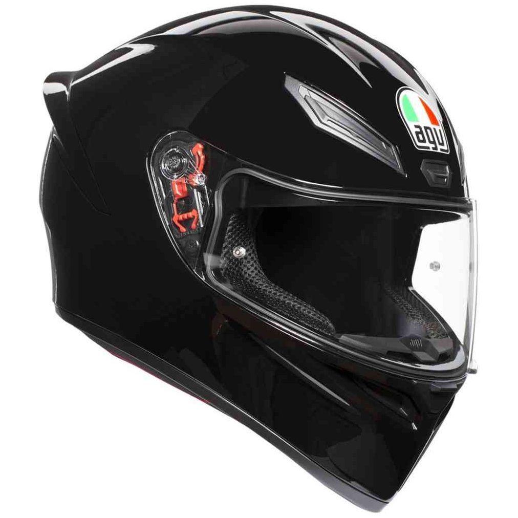 Casque moto AGV K1 - Blanc ou Noir (Plusieurs tailles)