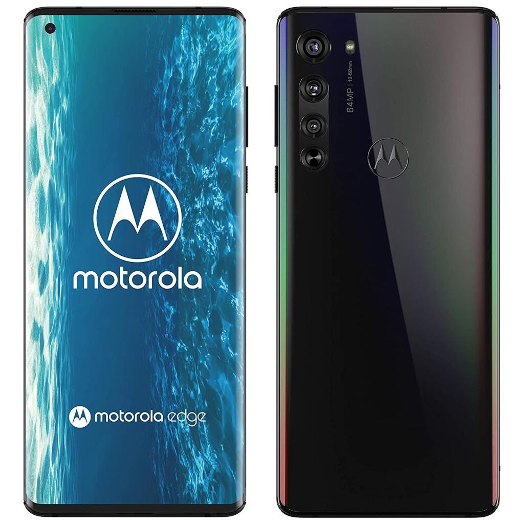 """Smartphone 6.7"""" Motorola Edge 5G - Full HD+ OLED 90 Hz, Snapdragon 765, RAM 6 Go, 128 Go (Noir)"""