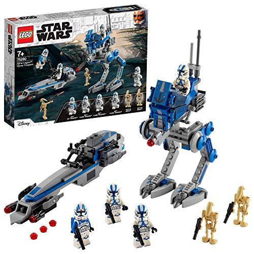 Jeu de construction Lego Star Wars - 501ème légion et Marcheur at-RT (75280)