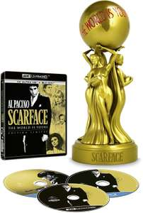 """Coffret Blu-ray/4K ULTRA Scarface en Edition limitée """"The World is Yours"""" (Version 1983 + version 1932 + Statuette Exclusive)"""
