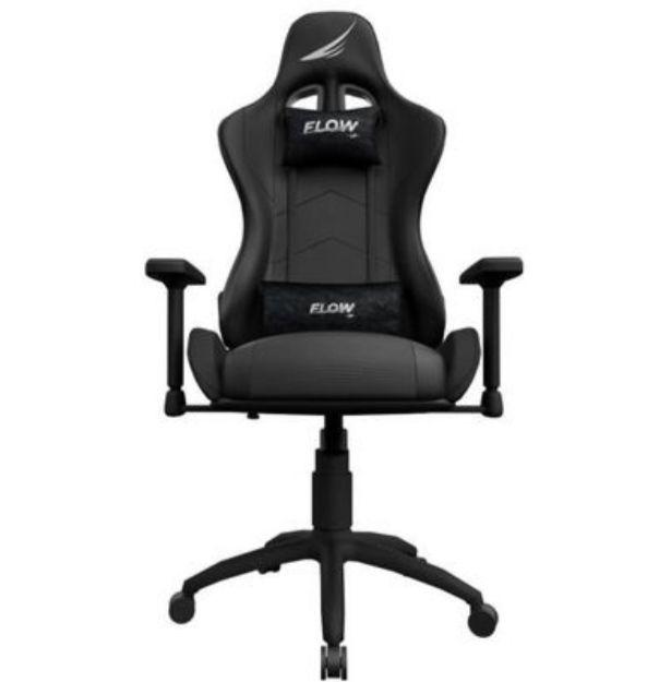 Chaise gaming FlowUP Senna - Accoudoirs 4D, Inclinable à 180° - Alcantara noir (Vendeur tiers)