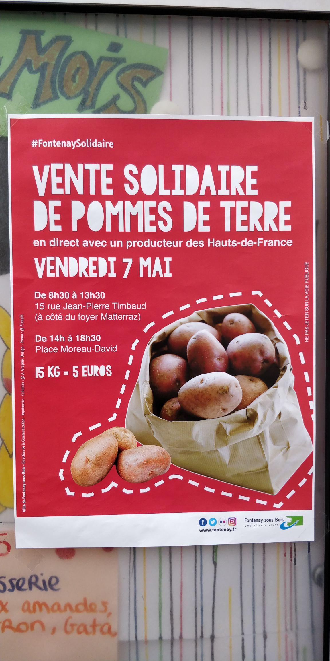 15 kgs de Pommes de terre - Fontenay (94) / Mureaux (78)