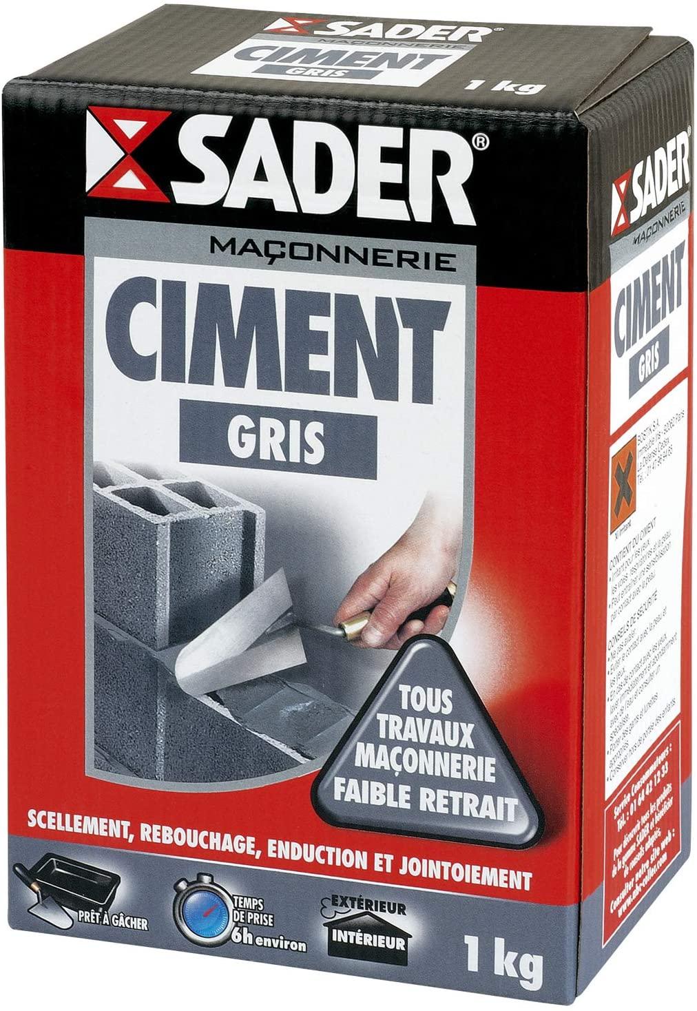 Paquet de ciment gris Sader - 1 kg